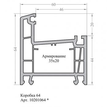 Коробка L60-4 6,5 TERMO, м
