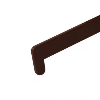 Заглушка для подоконника Кристаллит 700 мм орех