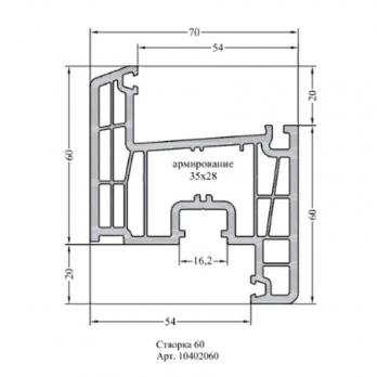 Створка Z60 Супер термо 70-6