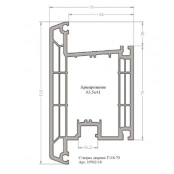Створка дверная Т118-70
